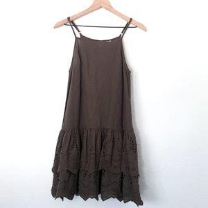 Some Days Lovin Revolve Tank Ruffle Boho Dress
